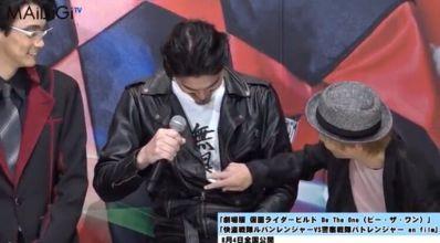 劇場版 仮面ライダービルドの幻徳のTシャツ