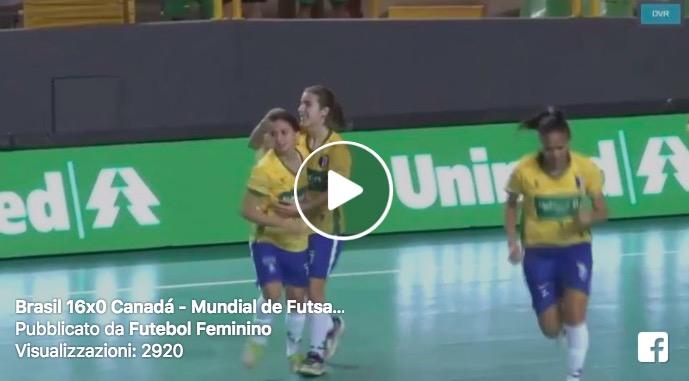 Renata Adamatti, che gol con il Brasile VIDEO