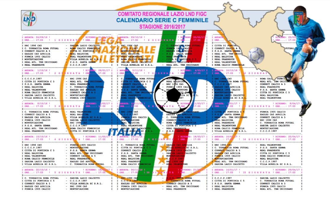 Serie A Calendario Completo.Serie C Femminile Lazio Il Calendario Completo Ladyfutsal Com