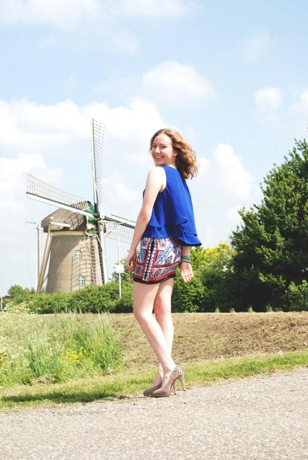 Delfts blue skirt