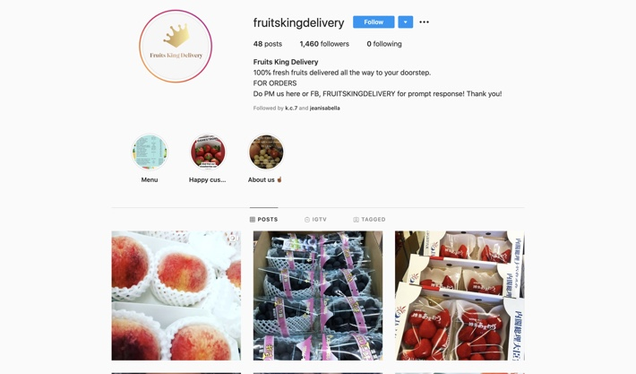 FRUITS KING DELIVERY SINGAPORE INSTAGRAM