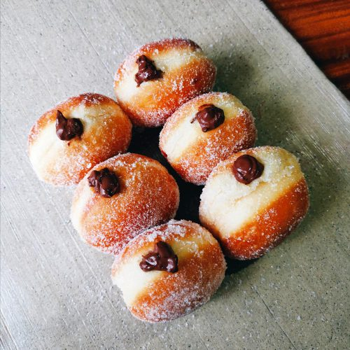 Burnt Ends Chocolate Doughnuts