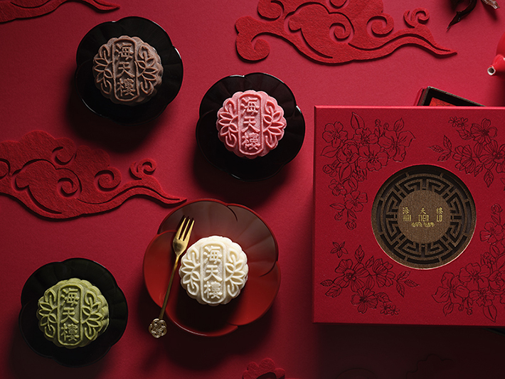 Pan pacific Singapore Four Treasures Snow Skin Mooncakes