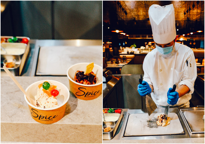 Spice Brasserie Teppanyaki Ice Cream