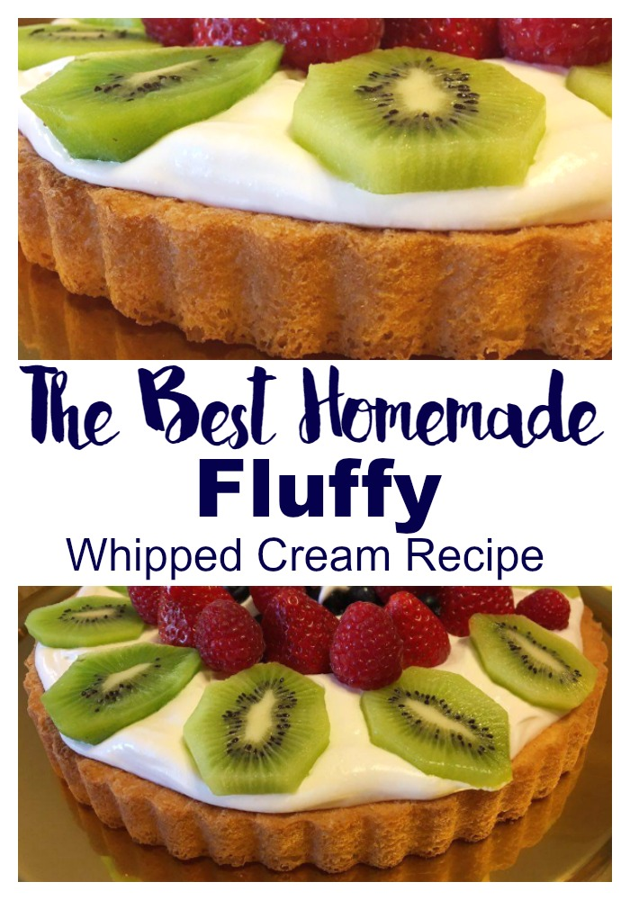 The Best Homemade Fluffy Whipped Cream Recipe #cookingwiththelords