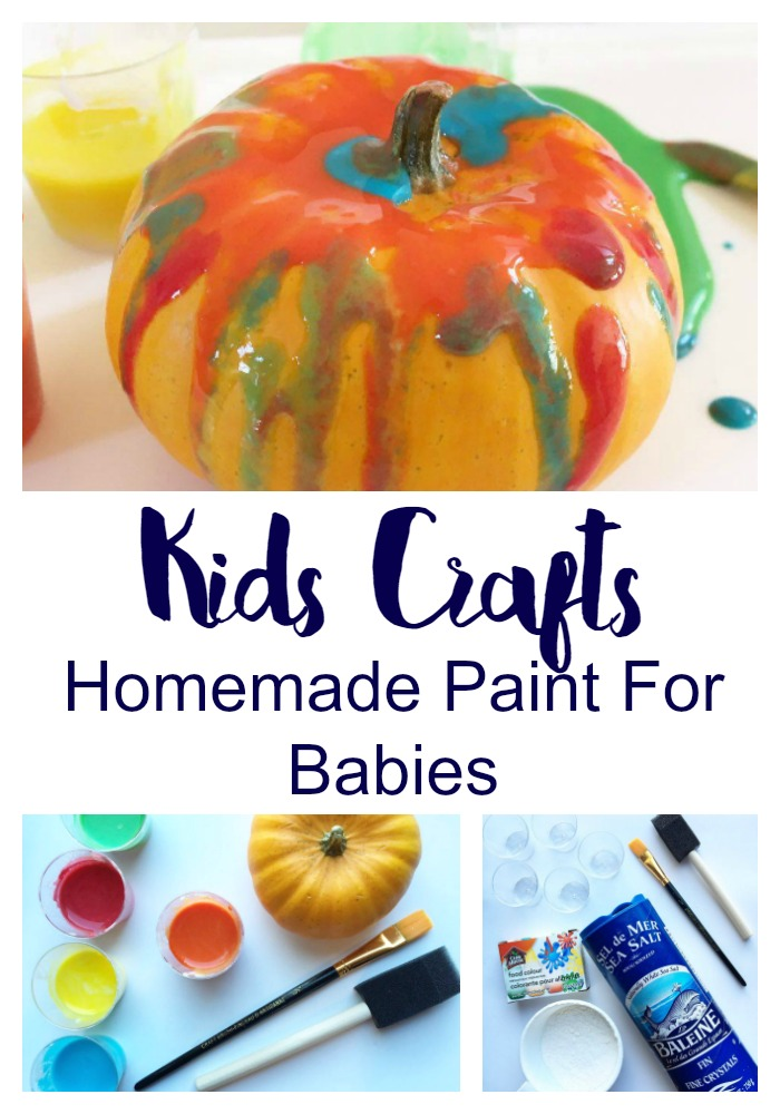 Kids Crafts: Homemade Paint For Babies