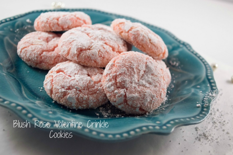 Blush Rose Valentine Crinkle Cookies Recipe