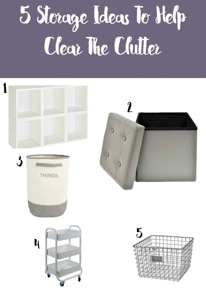 Work At Home Moms: 5 Storage Ideas To Help Clear The Clutter