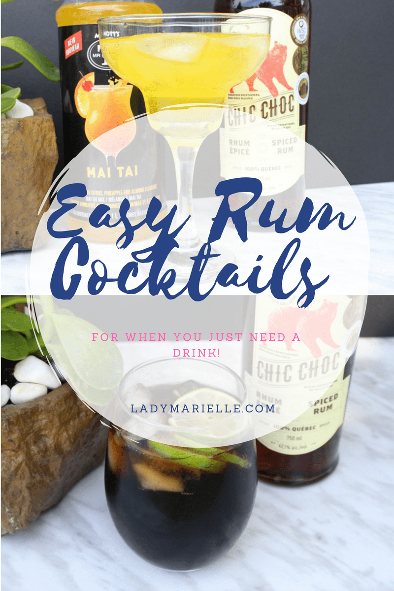 Easy Rum Cocktails For When You Just Need A Drink!