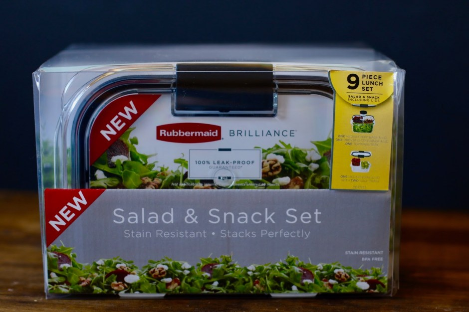 Rubbermaid BRILLIANCE Salad & Snack Set Giveaway #StoredBrilliantly