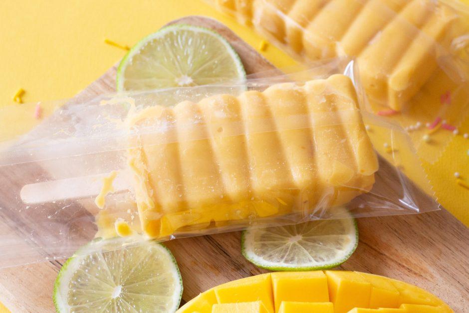 Mango Lime Sorbet Popsicle