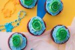 Super Easy Moana Inspired Cupcakes