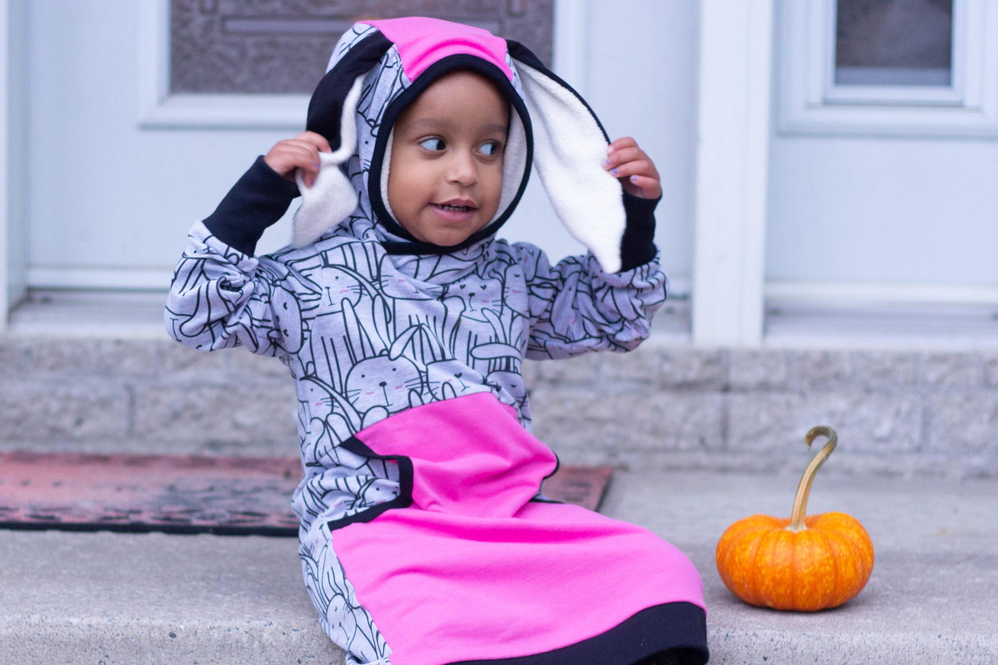 Bunny Dress And Pumpkins