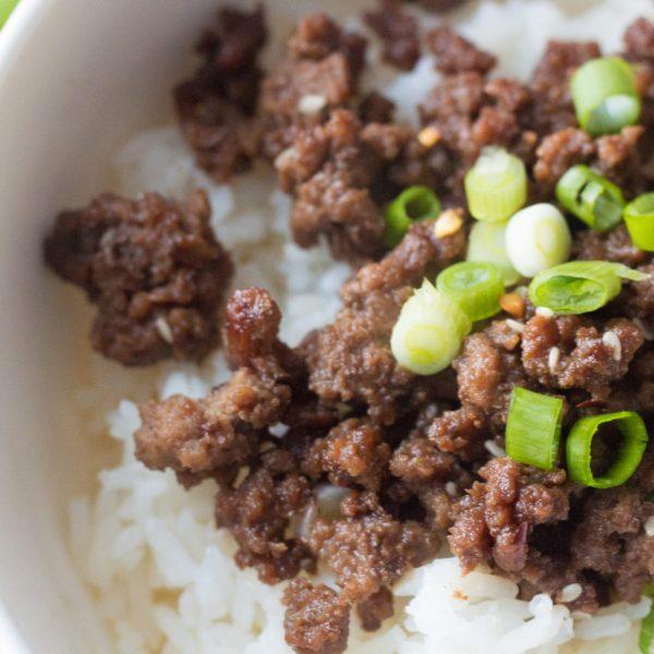 Tasty Korean Ground Beef And Rice Bowl Recipe
