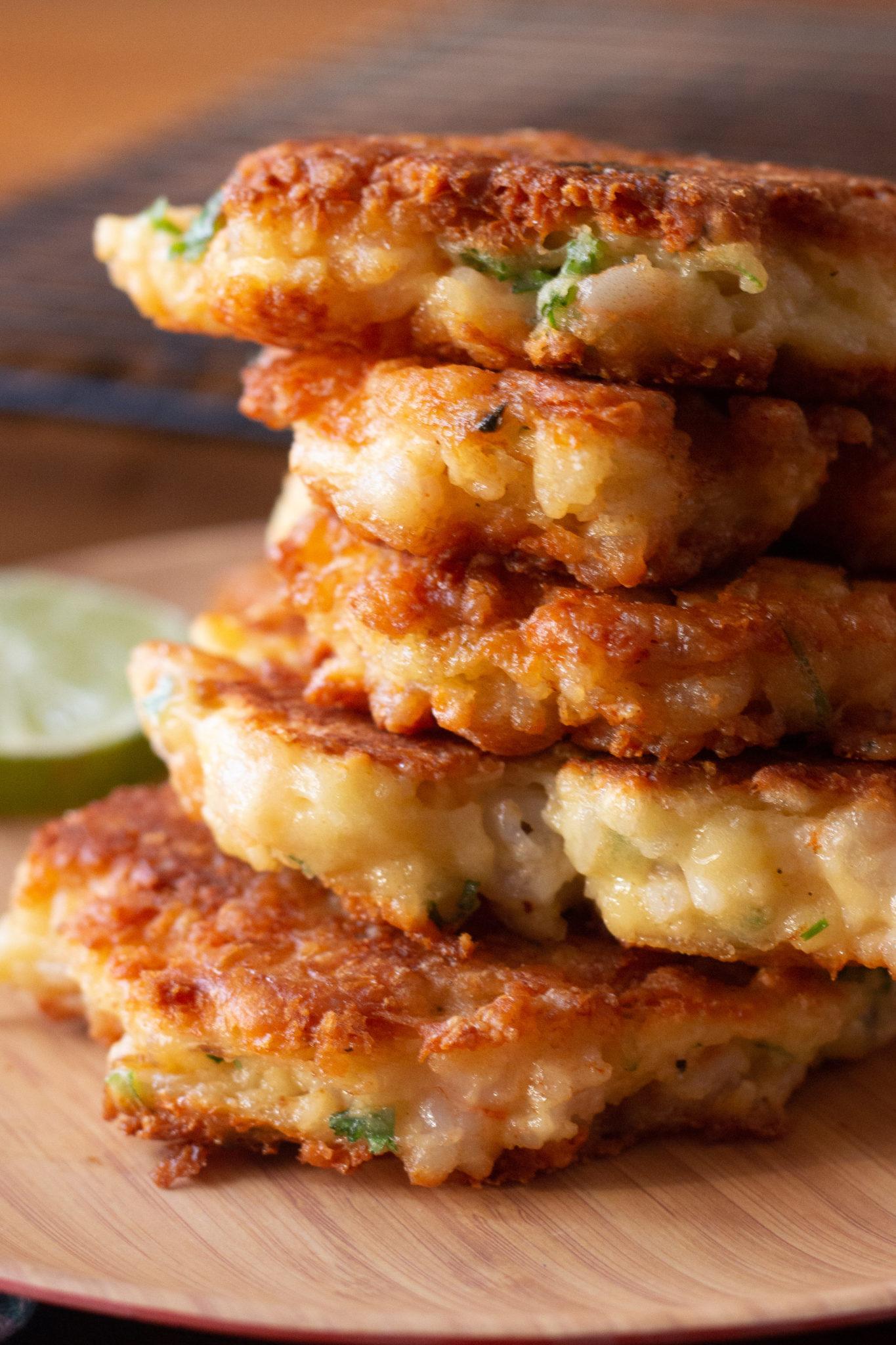 Tasty Homemade Cheesy Shrimp Patties