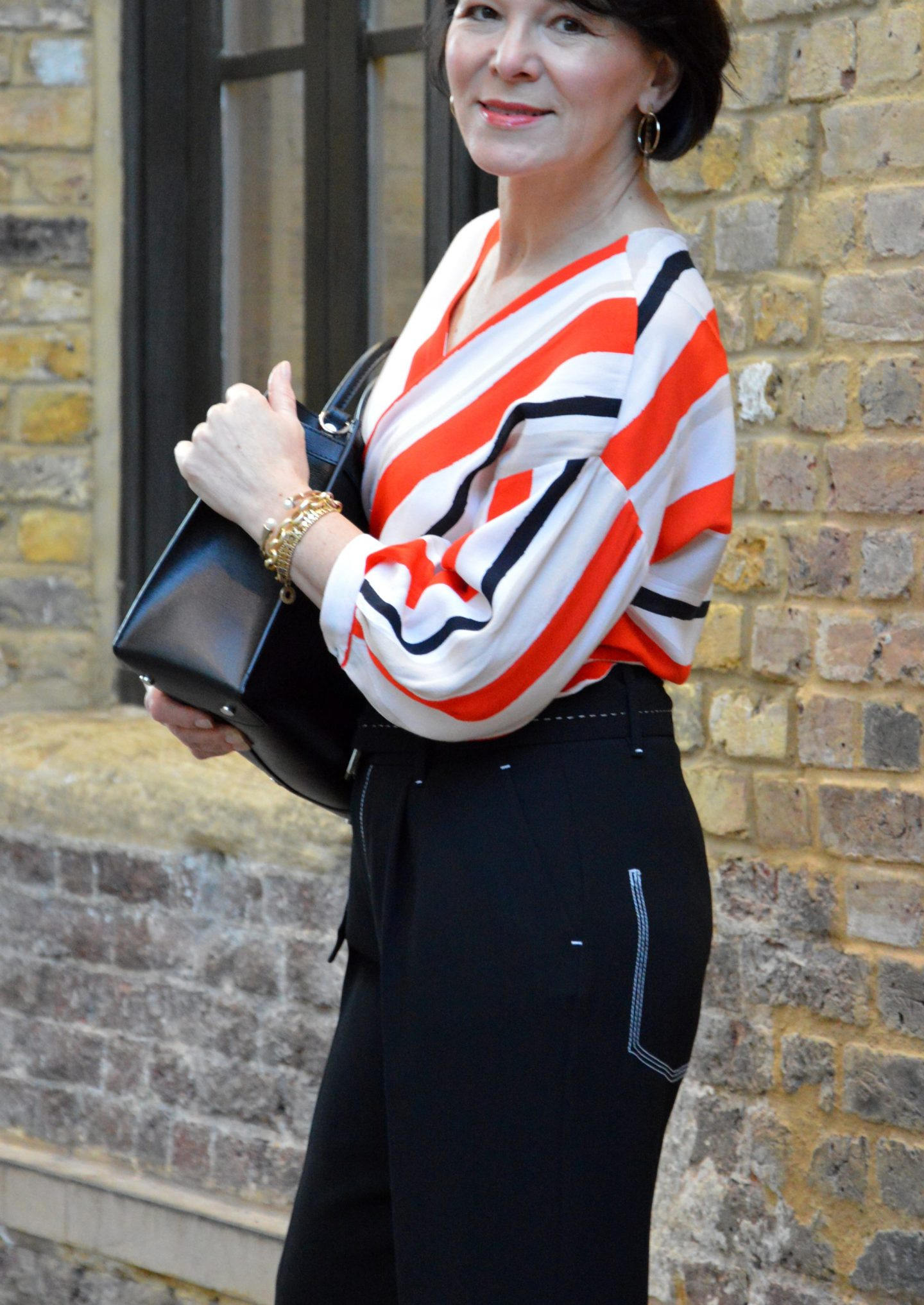 London Marlenehose Streifenbluse LadyofStyle