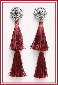 Mango Quasten Ohrringe Tassel Earrings LadyofStyle