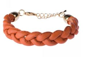 diboni Lederarmband orange