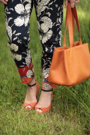 Blumenmuster Hose Sommerlook Orange LadyofStyle