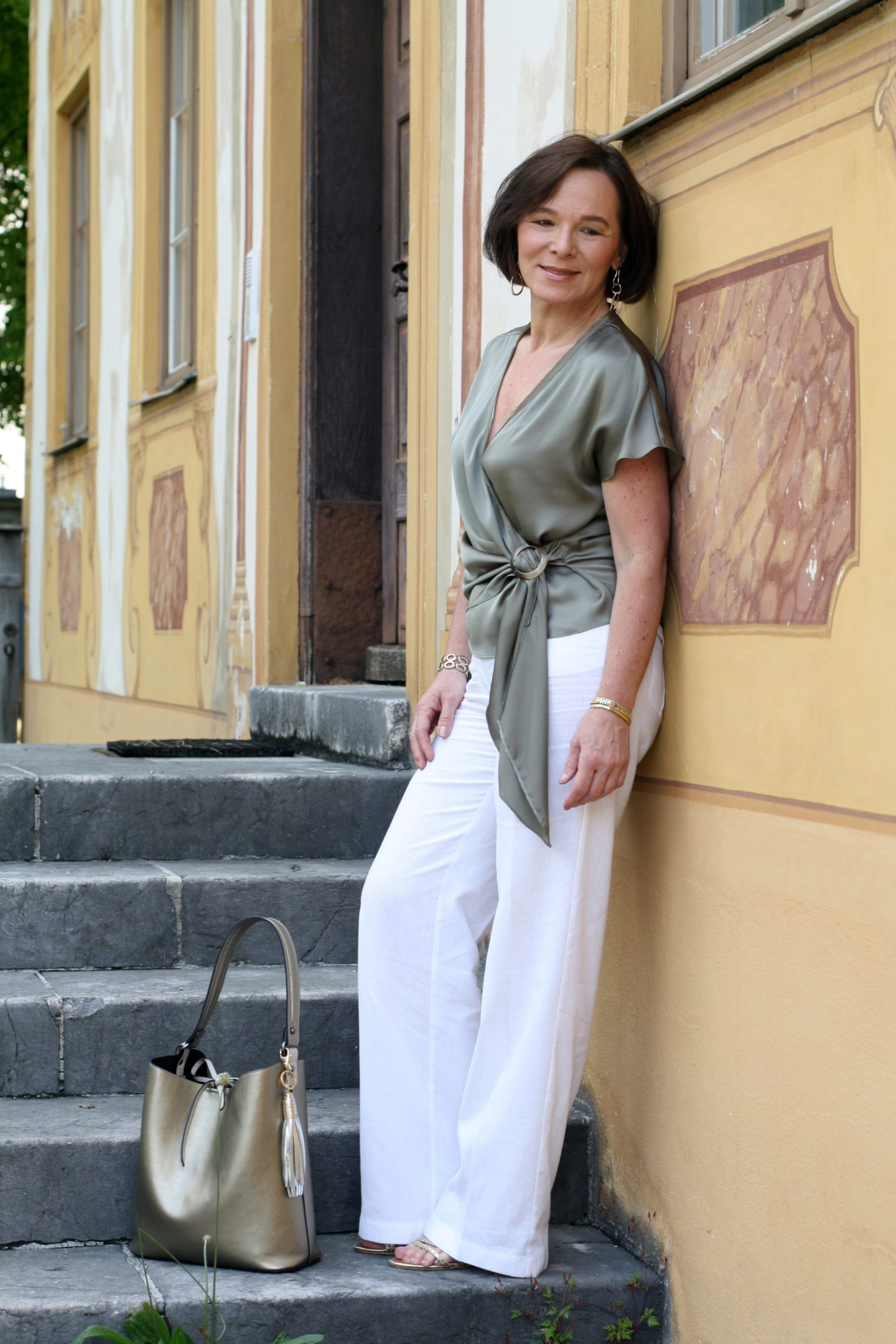 Satintop Leinenhose Sommer LadyofStyle