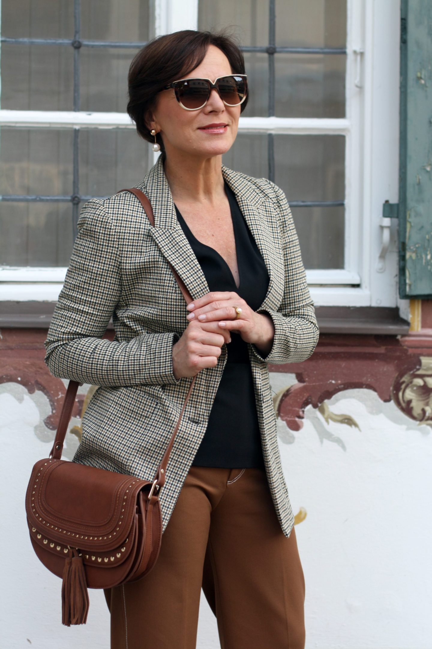 Herbsttrend 2018 Glencheck Blazer Culottes 50plus Blogger LadyofStyle
