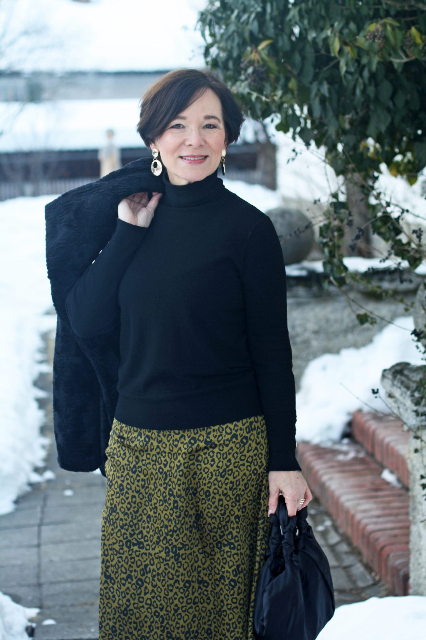 Leo Rock Animalprints Kunstpelz Winterlook 50plus Blogger LadyofStyle