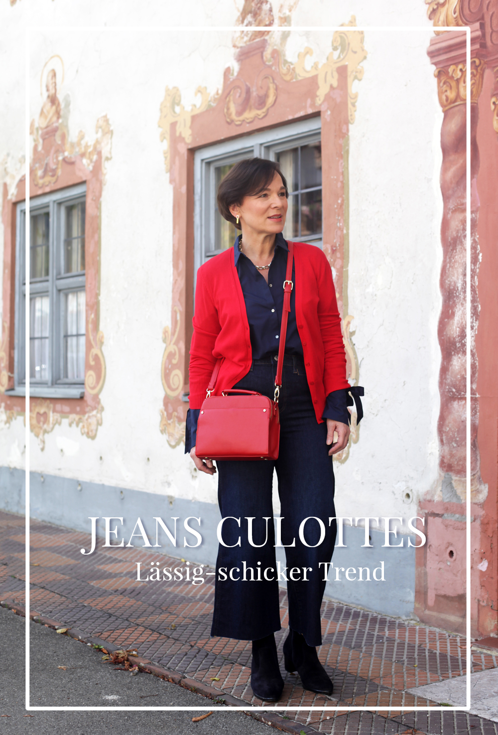Weite Culottes H&M Conscious Collection Stiefeletten Styling kleine Frauen 50plus LadyofStyle