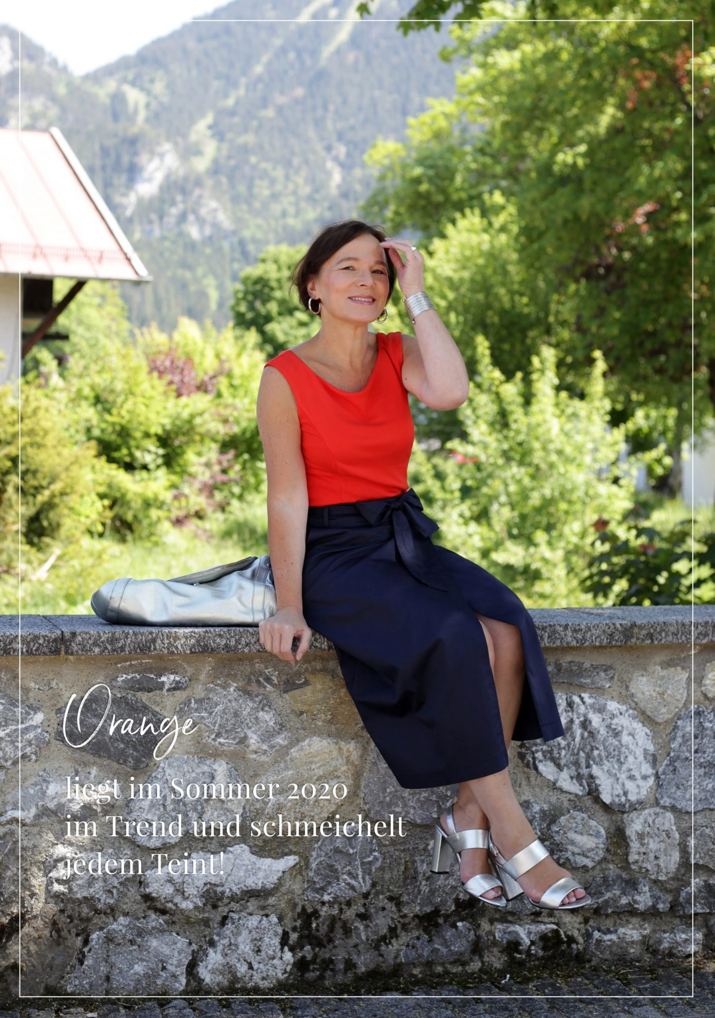 LadyofStyle Boden Madeleine Orange Wickelrock Sommermode Sommerlook 50plus Blogger