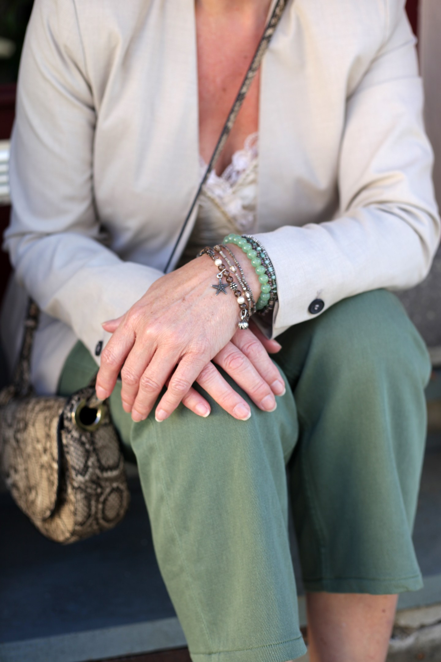LadyofStyle Chinos Blazer Sommerlook 50plus Blogger