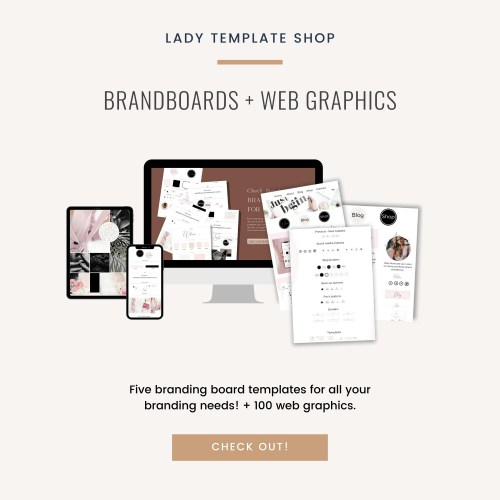 Brand Boards + Web Graphics