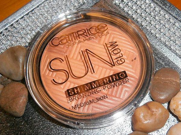 Slunce záře třpytivý prášek bronzing