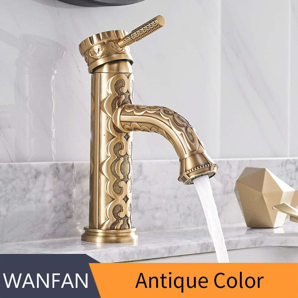 basin faucets solid brass bathroom faucets bronze single handle european hot and cold water basin mixer tap la10128aab
