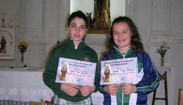 Dos alumnas de nuestro colegio han sido premiadas en el concurso de dibujo de San Antón