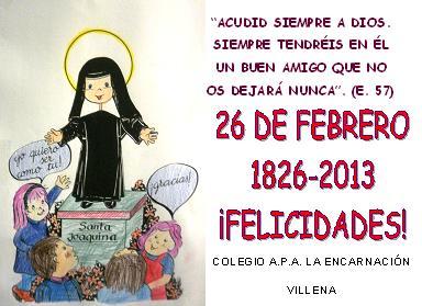 26 de Febrero – Día grande de nuestra Congregación.