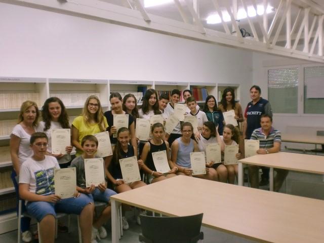Entrega diplomas Canguro matemática