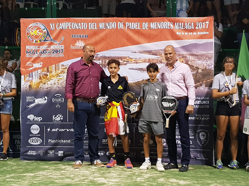 Raúl Peralta, Alumno de 6º de Primaria, Subcampeón del mundo de Pádel