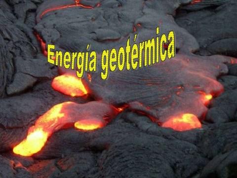 Concepto de energía geotérmica