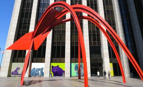 Helmut Koller Public Art Installation In DTLA