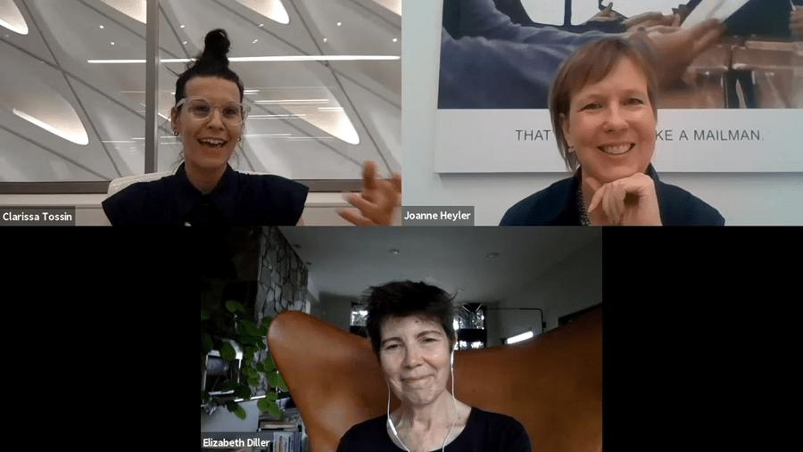 IN CONVERSATION: Clarissa Tossin + Elizabeth Diller + Joanne Heyler