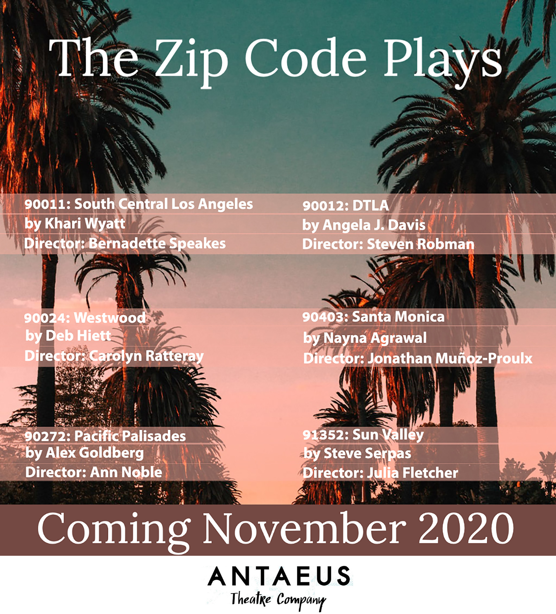 The Zip Code Plays Flyer