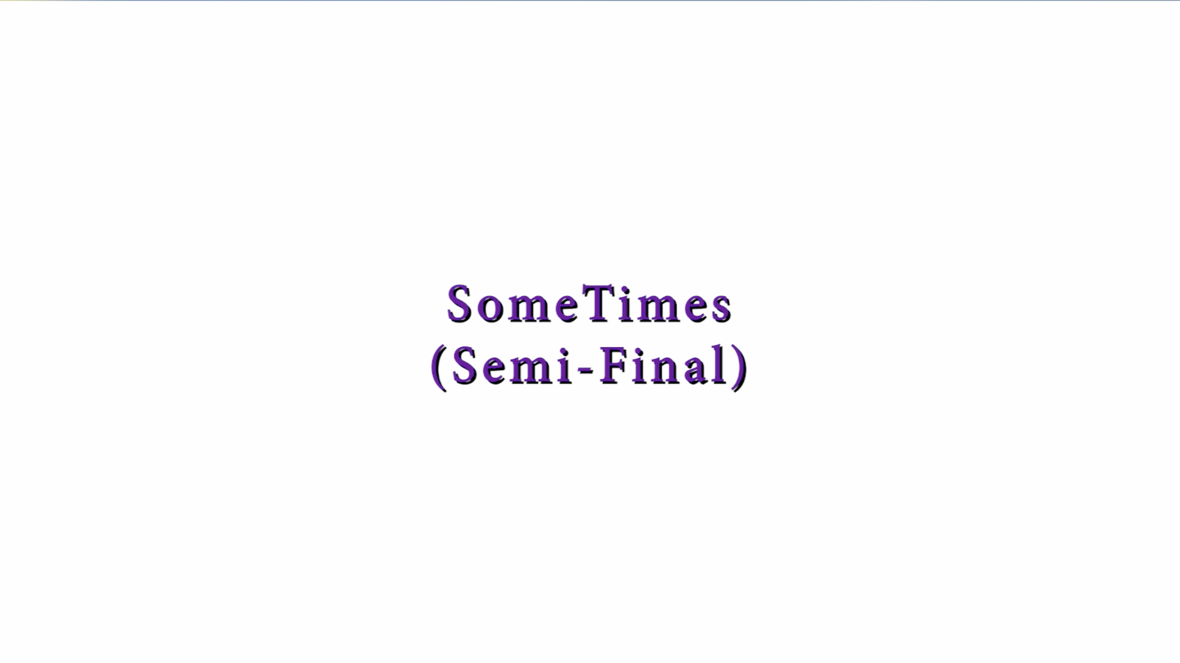 SomeTimes (Semi-Final) Marq Robinson