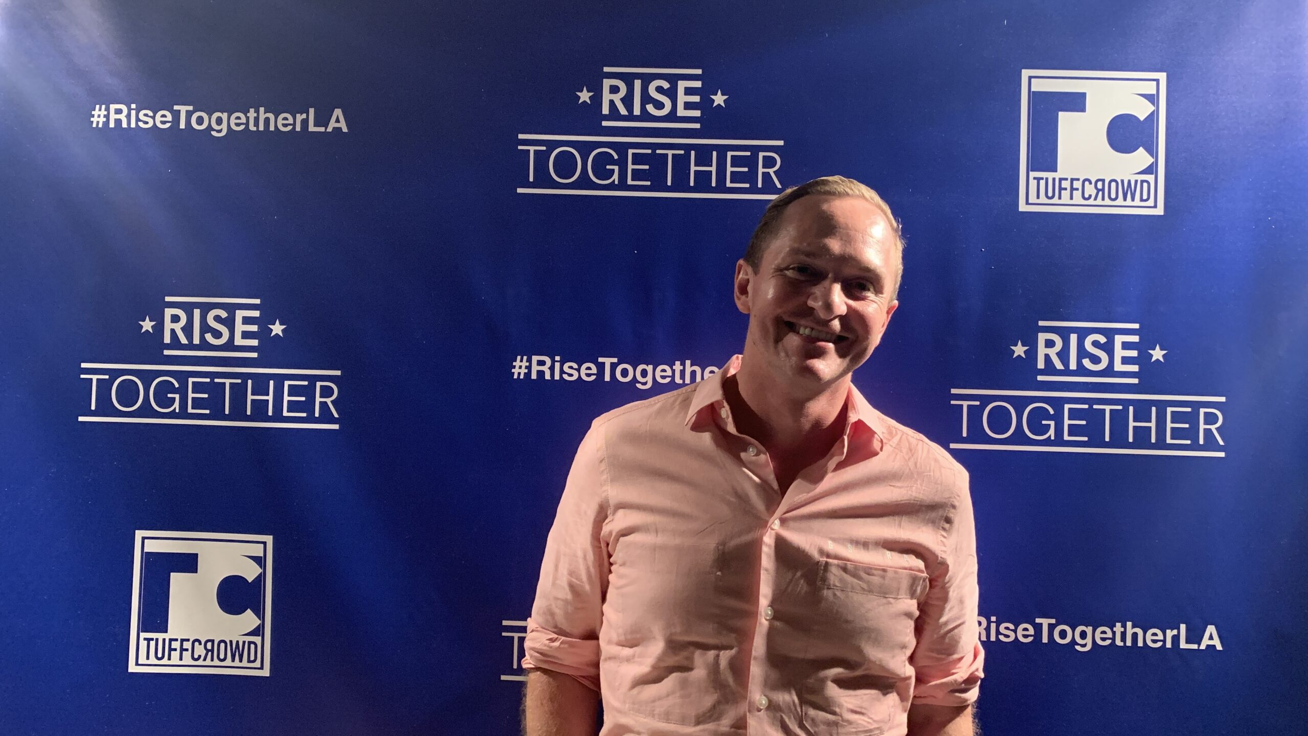 Chris Owens At Rise Together Event