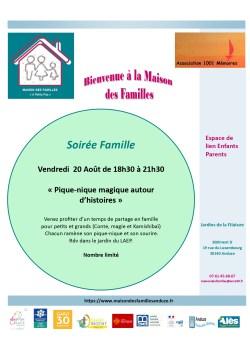 """Soirée Famille Petits et Grands """"Pique-nique magique autour d'histoires"""""""