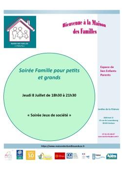 """Soirée Famille pour Petits et Grands """"Soirée Jeux de Société"""""""