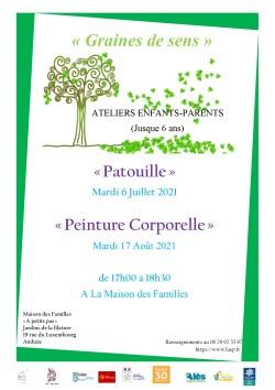 """Atelier Enfants/Parents (jusqu'à 6 ans) """"Patouille"""""""