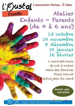 Atelier Enfants/Parents (0-6) organisé par L'Oustal