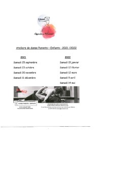 Atelier de Danse Parents-Enfants (voir horaire selon l'âge)