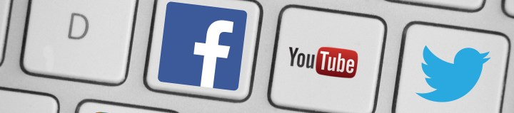 redes sociales youtube twitter facebook