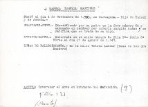 Ficha aclaratoria de la identidad de Manuel Tornell Martínez