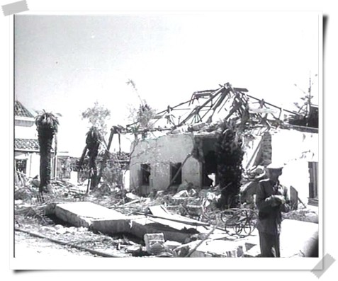 Chalet destruido en Tolosa Latour